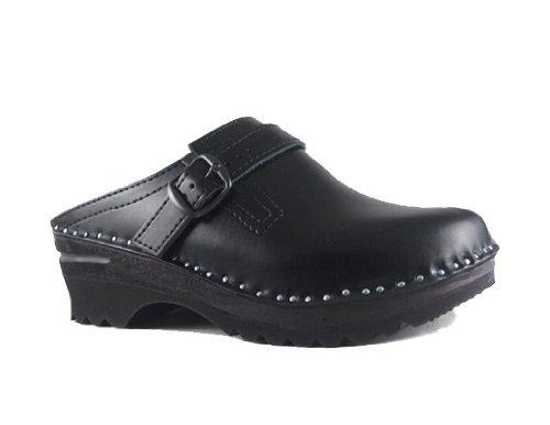 Troentorp Clogs Men's Båstad Donatello Black Leather Clogs Troentorp 44 EU B00BHKH8DE Shoes b75968