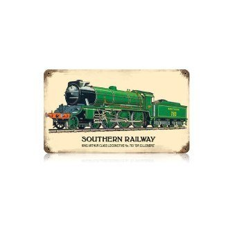 - Past Time Signs V320 Southern Railway Train and Rail Vintage Metal Sign