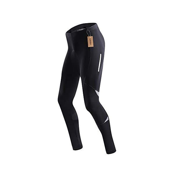Lixada Mens Bicycle Pants Gel Padded Reflective Cycling Compression Tights Leggings Outdoor Riding Bike Wear
