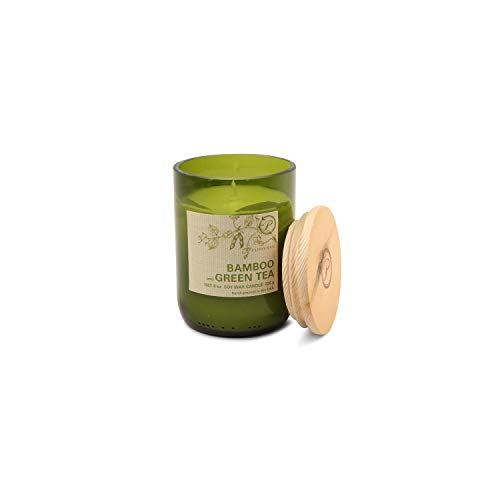 Paddywax Eco Collection Scented Soy Wax Jar Candle, 8-Ounce, Bamboo & Green ()