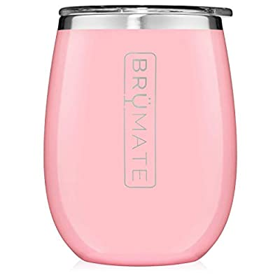 BrüMate Uncork'd XL 14oz Wine Glass Tumbler With Splash-proof Lid - Made With Vacuum Insulated Stainless Steel