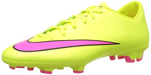 NIKE Men's Mercurial Victory V Fg Volt/Hyper Pink/Black Soccer Cleat 11 Men US