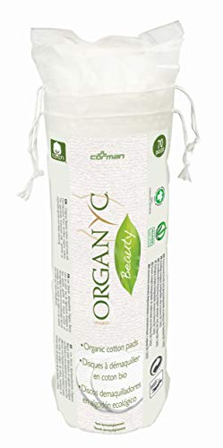 Organyc 100% Organic Cotton Rounds – Biodegradable Cotton, Chemical Free, For Sensitive Skin (70 Count) – Daily Cosmetics. Beauty and Personal Care