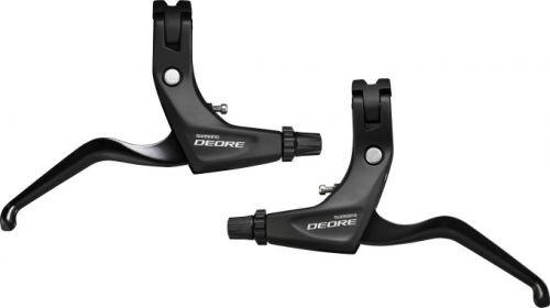 (SHIMANO Deore BL-T611 Deore 3-Finger Brake levers for V-Brakes, Black Black)