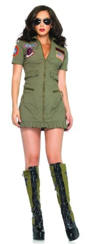 (Top Gun Womens Flight Dress Costume - Medium - Dress Size)