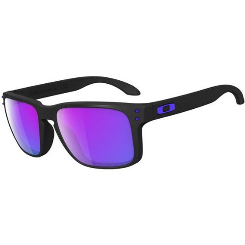 Oakley Holbrook Sunglasses, Matte Black/Violet Iridium, One - Iridium Oakley