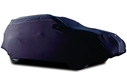 TPH MICROLITE Smooth Velvet Finished Customized fit Semi-Outdoor BLACK Car Cover with White Piping for Cadillac SRX Crossover