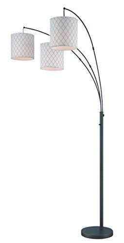 Lite Source LS-82533 Vasanti 3-Light Arch Lamp, Dark (Bronze Shaded Floor Lamp)