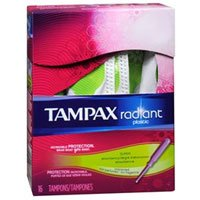 Tampax Tampax Radiant Tampons with Plastic Applicators Super Absorbency