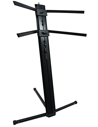 (Harmony Audio HA-KEYSTAND Professional 2-Tier Column Keyboard Stand with 5/8