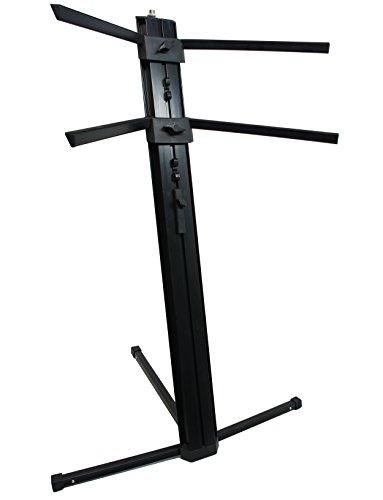 Harmony Audio HA-KEYSTAND Professional 2-Tier Column Keyboard Stand with 5/8'' Mic Mount by Harmony Audio