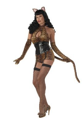 [Bettie Page Cattail Adult Costume Small] (Bettie Page Halloween)