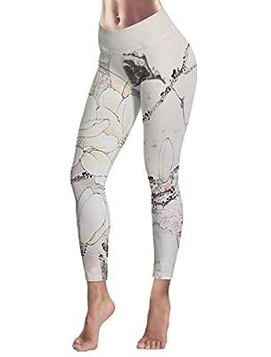 Women's Capris Printed Custom Leggings Chinese Style Pattern High Waist Yoga Running Workout Pants