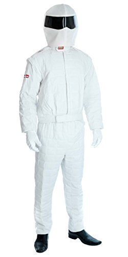 The Stig Costume For Adults (Fancy Me Men's The Stig Racing Car Driver Sport Stag Do Fancy Dres Costume Large (42-44
