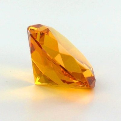Mother's Day Special: Orange Color Glass Crystal Diamond Shaped Paperweight (Diamond Shaped Paperweight)