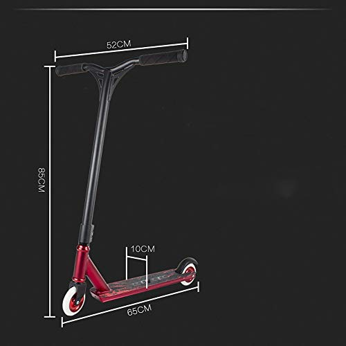 FDSjd Scooter Aluminum Core Wheel Two Round High Elastic TPE Environmental Protection 35 ° Soft Non-Slip Handle (Color : Red) by FDSjd (Image #2)