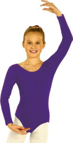 Eurotard 10408PurpleM Girls Leotard, Purple, Medium -