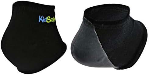 KidSole Gel Heel Strap for Kids with Heel Sensitivity from Severs Disease, Plantar Fasciitis. (Black)