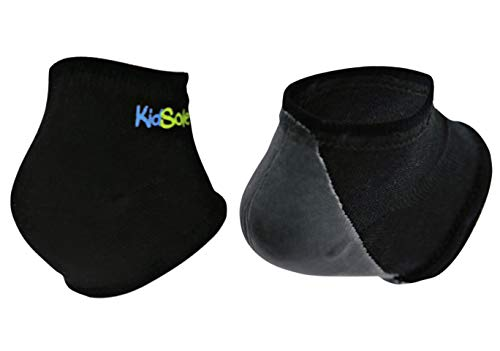 KidSole Gel Heel Strap for Kids with Heel Sensitivity from Severs Disease, Plantar Fasciitis. (Black)