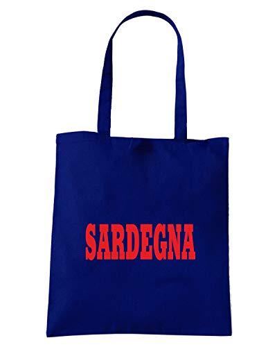 Borsa Navy Blu LOGO Shopper STEMMA WC0860 Shirt Speed CITTA ITALIA SARDEGNA OUqFSS