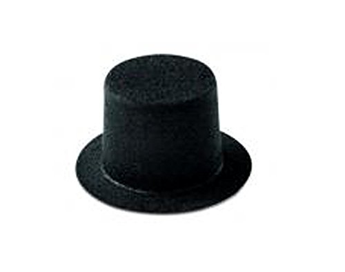 Flocked Mini Top Hat for Crafts - 65mm x 43mm | Snowman Hats -