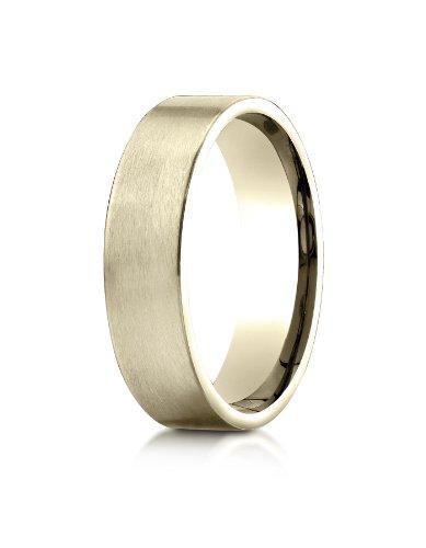 PriceRock 10k Yellow Gold 6mm Comfort-Fit Satin-Finished Carved Design Wedding Band Ring for Men & Women Size 4 to - Finished Band Carved Wedding