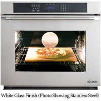 "Dacor Renaissance 30"" White Glass Electric Wall Oven"