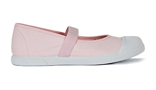 ChildrenChic Pink Canvas Elastic Mary Janes, Shoes for Girls (Toddler/Little Kid), 10 M US Toddler by ChildrenChic