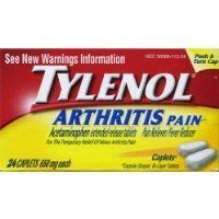 - Tylenol Arthritis Pain Caplets, Push & Turn Cap-24 count (Pack of 2)