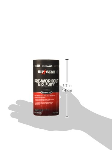 Six Star Pro Nutrition Elite Series Pre Workout N.O. Fury, Nitric Oxide Booster (60 caplets)