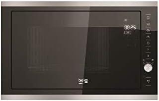 Beko MGB25333X Incasso Microonde con grill 25L 900W Nero, Acciaio inossidabile forno a microonde