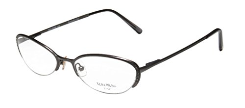 Vera Wang Epiphany Ii Womens/Ladies Designer Half-rim Titanium Crystals Spring Hinges Eyeglasses/Eye Glasses (52-17-140, - Glasses Old Style