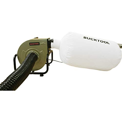 BUCKTOOL 1HP 6.5AMP Wall-mount Dust Collector Industrial Home Portable 13 Gal with Dust Bag
