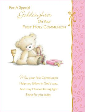 Goddaughter first holy communion greeting card amazon goddaughter first holy communion greeting card m4hsunfo