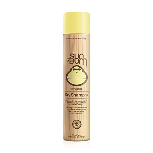 Sun Bum Revitalizing Dry Shampoo | Hair Refreshing Texture and Volumizing Spray | Paraben Free, Oil Free, Gluten Free, Vegan |4.2 OZ Bottle