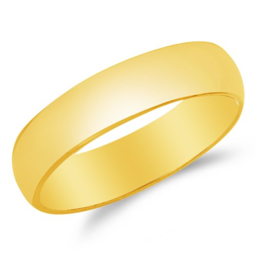 OR White Gold Solid 5mm Comfort FIT Plain Traditional Wedding Band Ring Sonia Jewels Mens 14k Yellow
