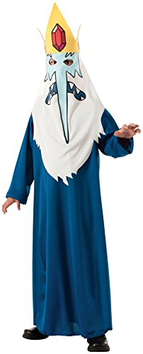 Adult Adventure Costumes Jacket (Rubie's Costume Co Men's Adventure Time Ice King Costume Robe, Multi, X-Large)