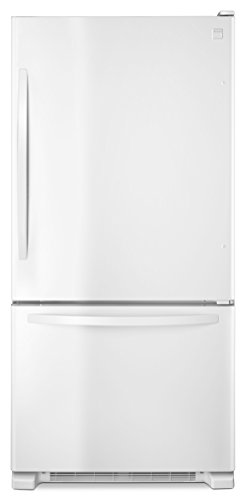 Kenmore 79342 22 cu. ft. Wide Bottom Freezer Refrigerator in White, includes delivery and hookup (Available in select cities only) (Refrigerator Cu Ft 22)