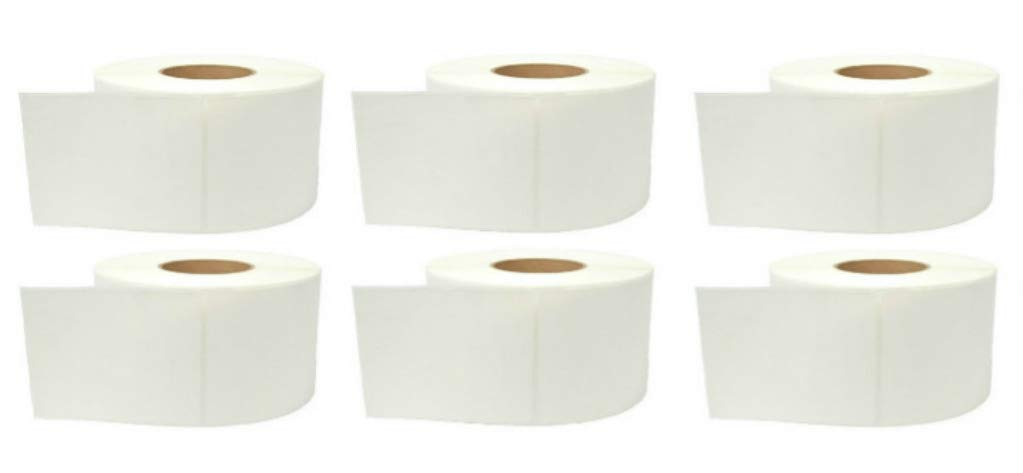 Duratherm 4'' x 6'' Direct Thermal Paper Label Roll 6-Pack, 1'' core, 5'' OD, 600 Labels/Roll