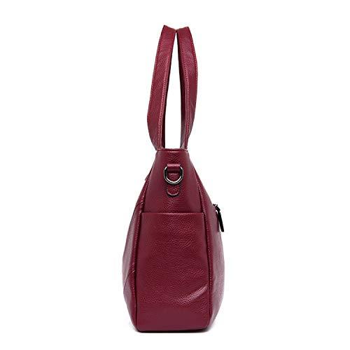 2 Composite Pour Shulder Brown Casual Capacité Sac Femme Leatherbags Ensembles Sunonip À Grand Grande Main dF7Odq