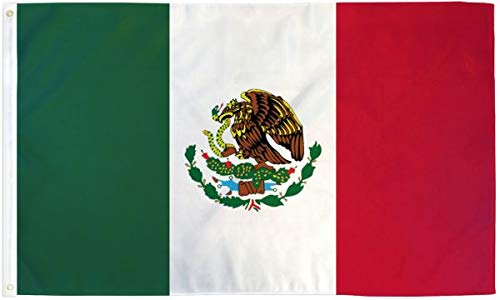 - Ant Enterprises Mexico 4 Foot x 6 Foot Polyester Flag