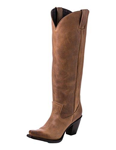 Lane Western Bottes Femmes Julia Snip Toe Tirer Sur 7.5 B Tan Lb0351c