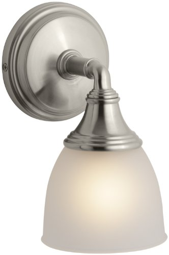KOHLER K-10570-BN Devonshire Single Wall Sconce, Vibrant Brushed Nickel