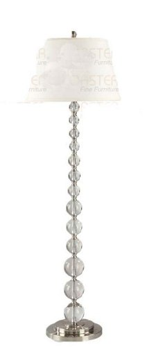 - Crystal White Floor Lamp By Coaster Furniture
