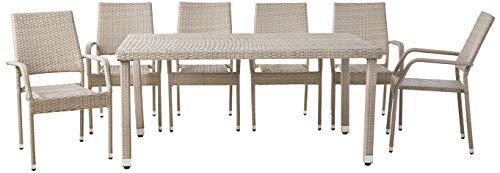 Best Ids Dining Tables - IDS Online MLM-18873-T+MLM-18873-C 7-Piece Garden Modern