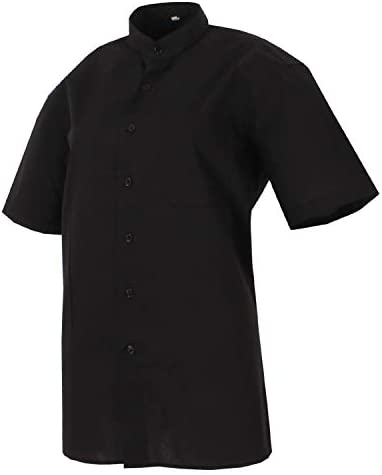 MISEMIYA - Camisa Uniforme Camarero Hombre Cuello Mao Mangas ...