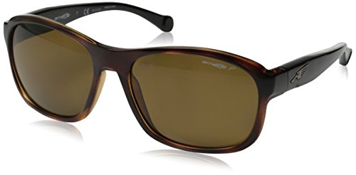 Arnette Uncorked AN4209-04 Polarized Rectangular Sunglasses, Brown, 57 - Brown Sunglasses Arnette