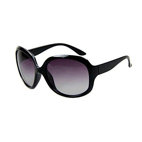 Conducción De Anti Gafas sol Borde Negro 2 Luz Clásico Protección Grande UV Protección Polarizada Retro Decoración gafas 100 Brown Solar UVA WYYY de Sra Color zwqnxXEAa