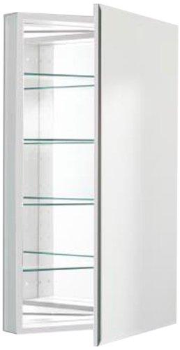 Robern PLM2440WB Pl-Series Flat Bevel Mirror Medicine Cabinet, White