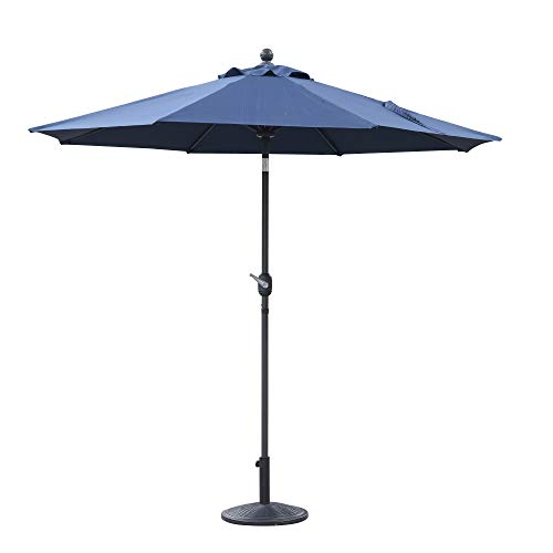 Capital Patio Umbrella in Bold Blue with Sunbrella Fabric And Durable Metal Frame, by Artum Hill ()